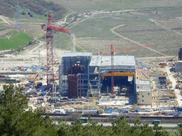 Строительство Севастопольской ТЭС. Апрель 2017